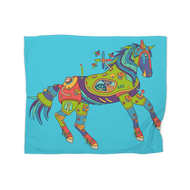 Horse, cool wall art for kids and adults alike Home Blanket by AlphaPod