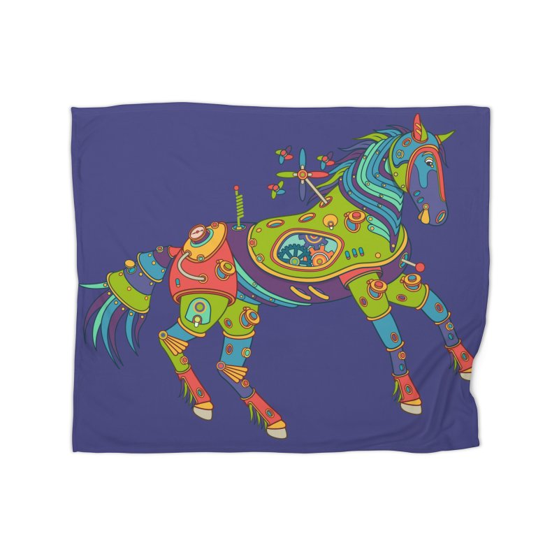 Horse, cool art from the AlphaPod Collection Home Blanket by AlphaPod