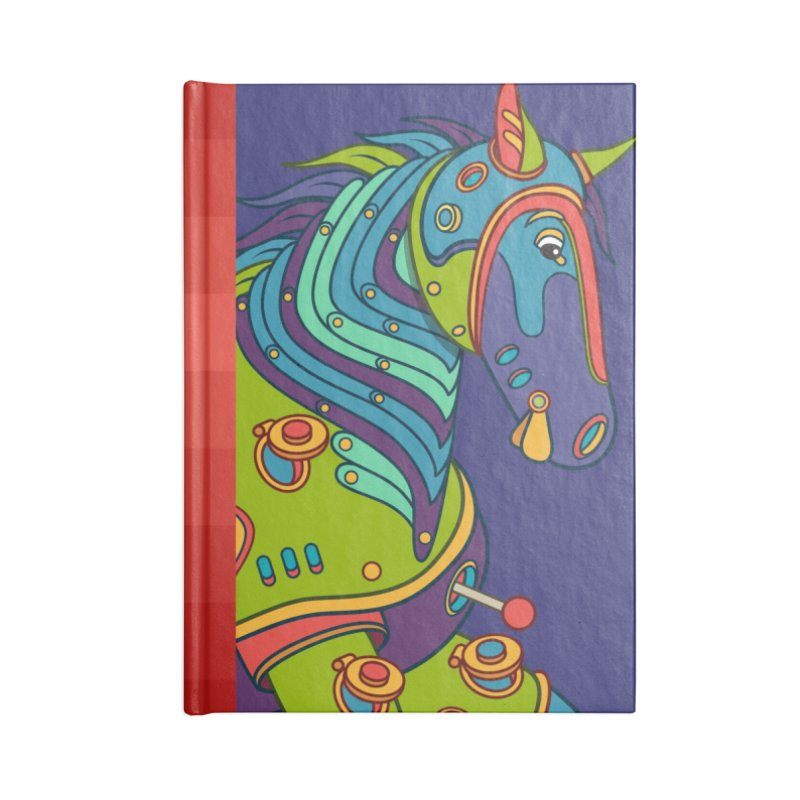 Horse, cool art from the AlphaPod Collection Accessories Blank Journal Notebook by AlphaPod
