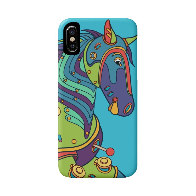 Horse, cool art from the AlphaPod Collection Accessories Phone Case by AlphaPod