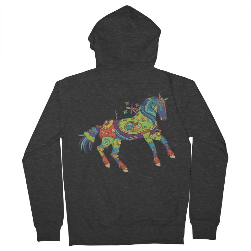 Horse, cool art from the AlphaPod Collection Women's Zip-Up Hoody by AlphaPod