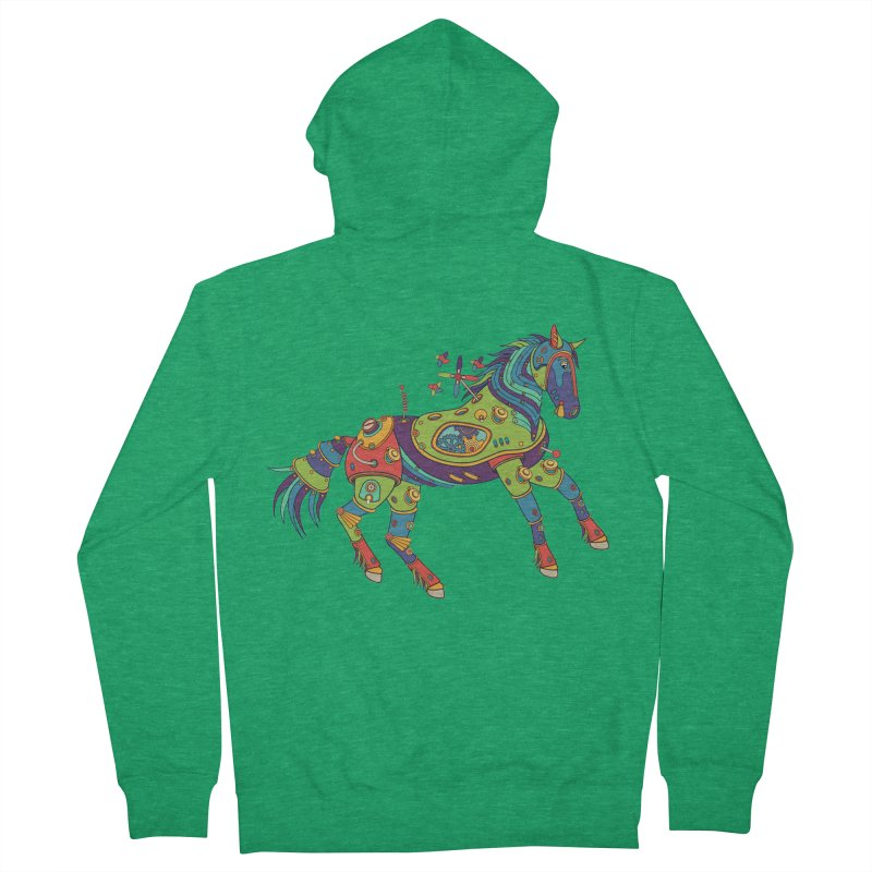 Horse, cool art from the AlphaPod Collection Men's Zip-Up Hoody by AlphaPod