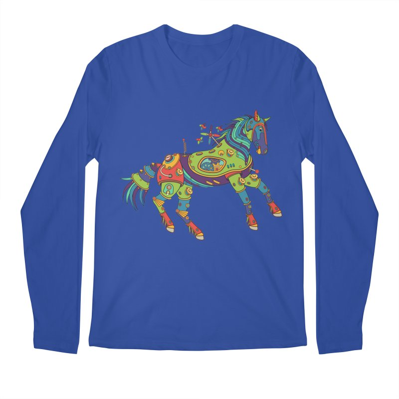 Horse, cool art from the AlphaPod Collection Men's Longsleeve T-Shirt by AlphaPod