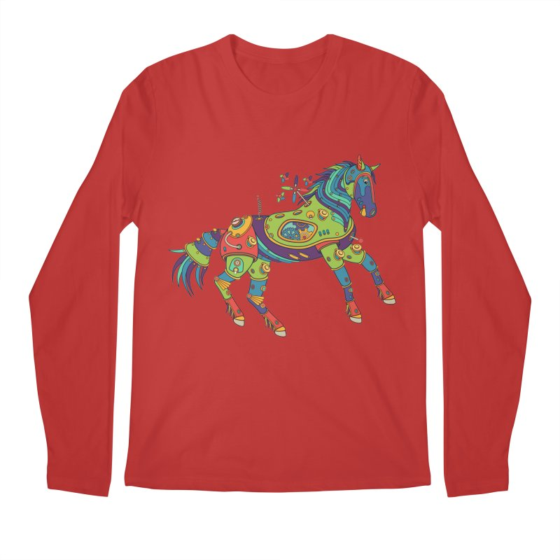 Horse, cool art from the AlphaPod Collection Men's Longsleeve T-Shirt by AlphaPod