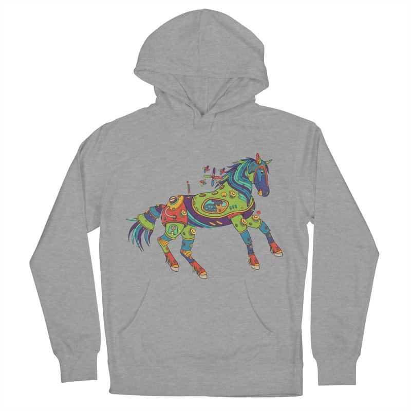 Horse, cool art from the AlphaPod Collection Women's French Terry Pullover Hoody by AlphaPod