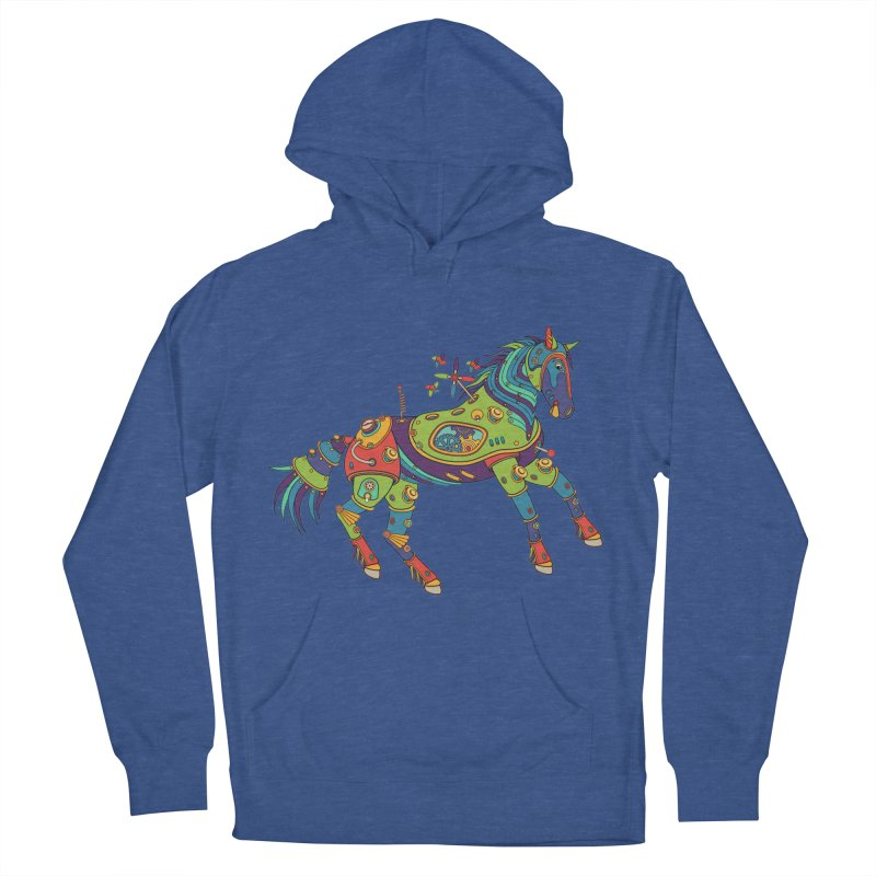 Horse, cool art from the AlphaPod Collection Men's French Terry Pullover Hoody by AlphaPod