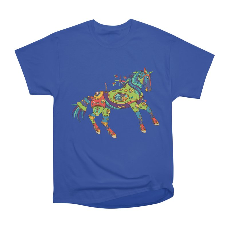Horse, cool art from the AlphaPod Collection Women's Heavyweight Unisex T-Shirt by AlphaPod