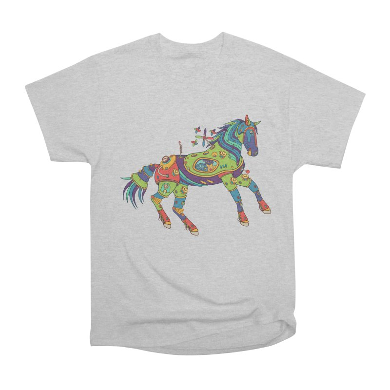 Horse, cool art from the AlphaPod Collection Women's Heavyweight Unisex T-Shirt by AlphaPod