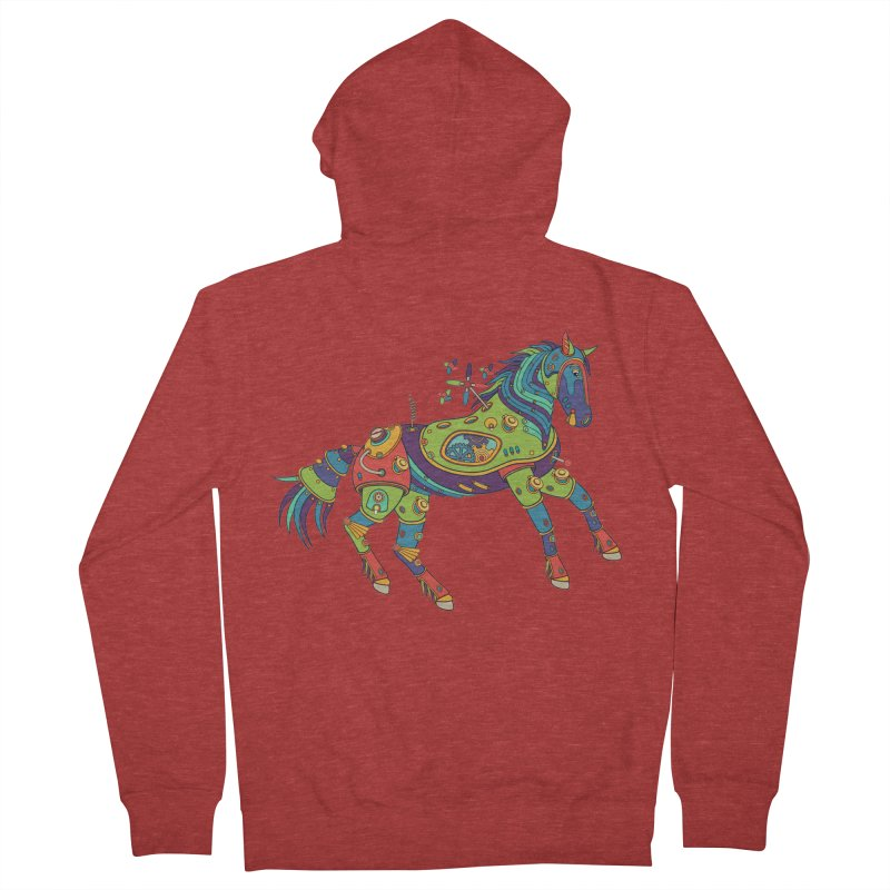Horse, cool art from the AlphaPod Collection Women's French Terry Zip-Up Hoody by AlphaPod