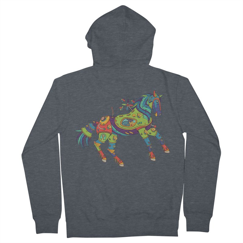 Horse, cool art from the AlphaPod Collection Men's French Terry Zip-Up Hoody by AlphaPod