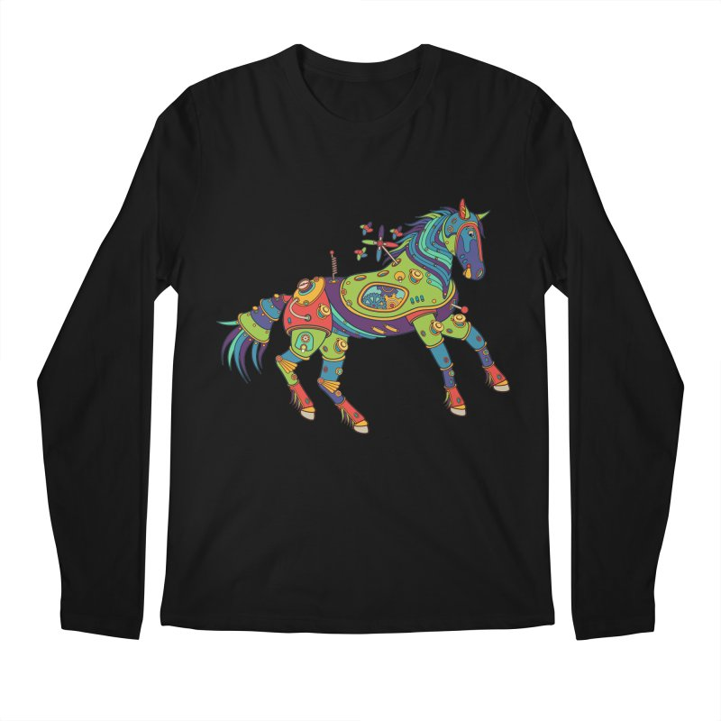 Horse, cool art from the AlphaPod Collection Men's Regular Longsleeve T-Shirt by AlphaPod