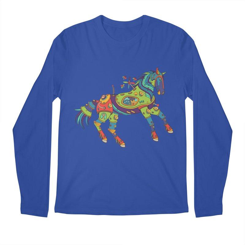 Horse, cool art from the AlphaPod Collection Men's Regular Longsleeve T-Shirt by AlphaPod