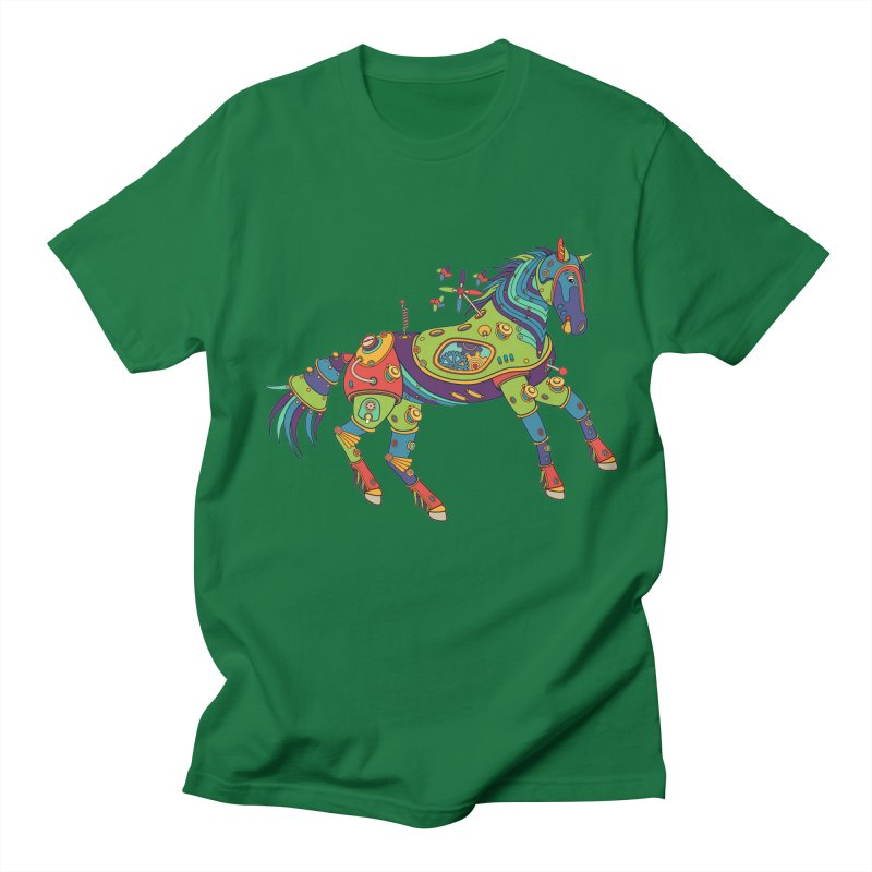 Horse, cool art from the AlphaPod Collection Men's Regular T-Shirt by AlphaPod