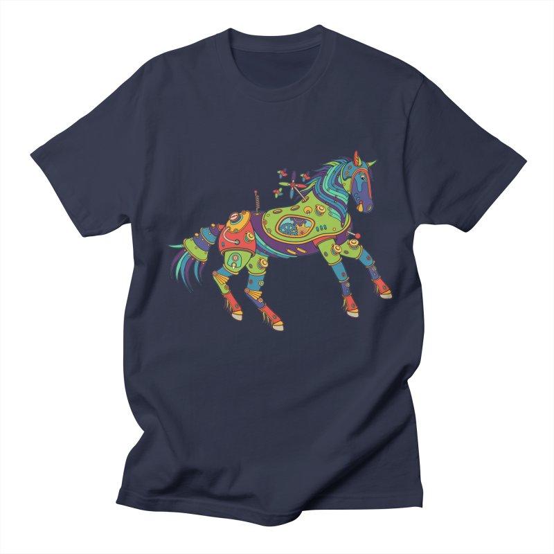 Horse, cool art from the AlphaPod Collection Men's Regular T-Shirt by AlphaPod