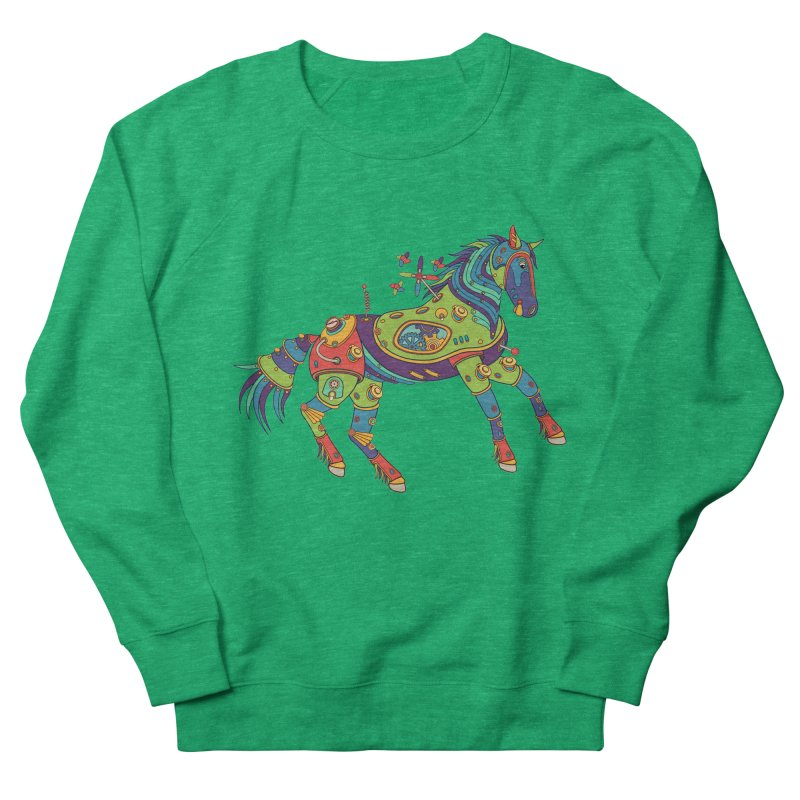 Horse, cool art from the AlphaPod Collection Women's French Terry Sweatshirt by AlphaPod