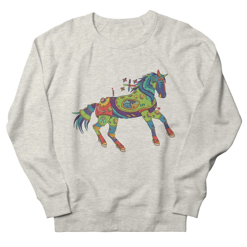 Horse, cool art from the AlphaPod Collection Men's French Terry Sweatshirt by AlphaPod