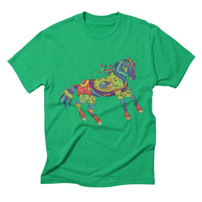 Horse, cool art from the AlphaPod Collection Men's Triblend T-Shirt by AlphaPod