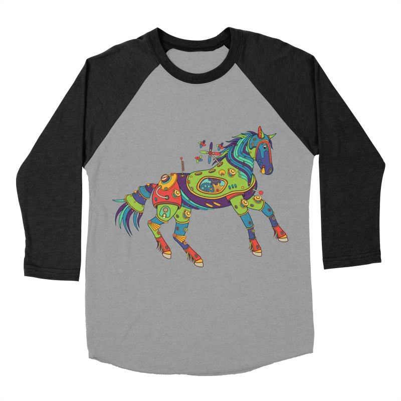 Horse, cool art from the AlphaPod Collection Women's Baseball Triblend Longsleeve T-Shirt by AlphaPod