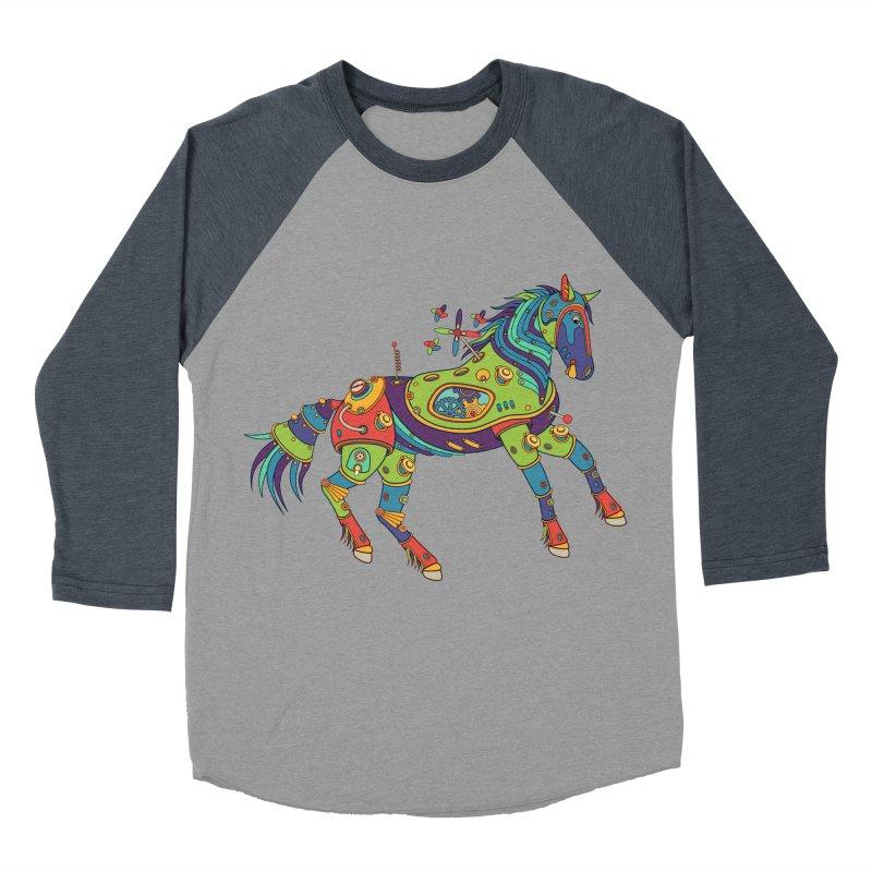 Horse, cool wall art for kids and adults alike Women's Baseball Triblend T-Shirt by AlphaPod