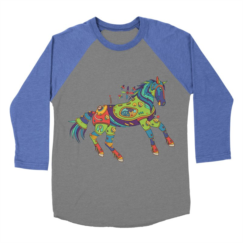 Horse, cool art from the AlphaPod Collection Men's Baseball Triblend Longsleeve T-Shirt by AlphaPod