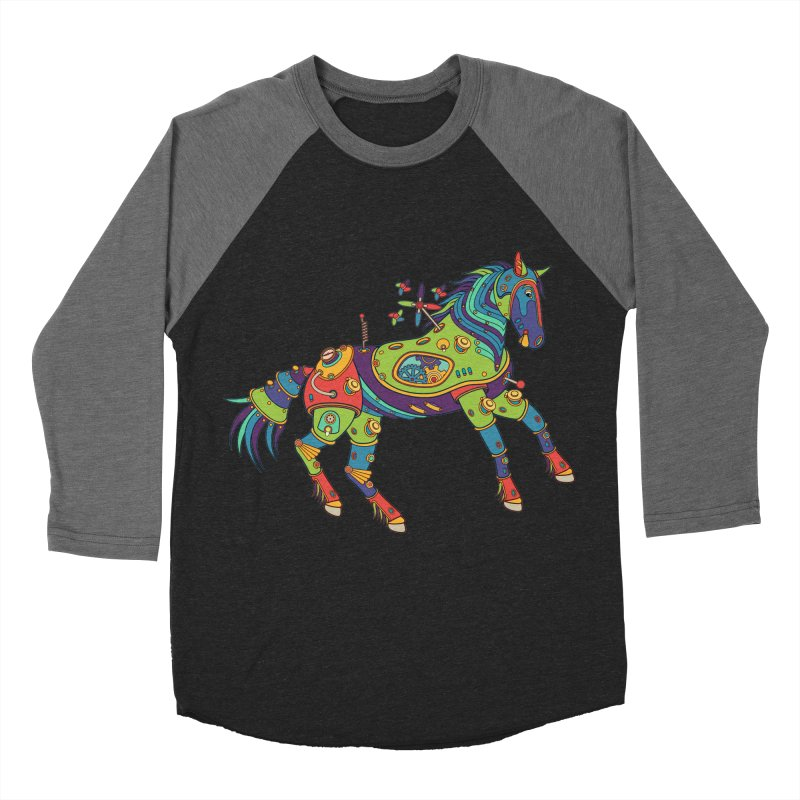 Horse, cool art from the AlphaPod Collection Men's Baseball Triblend T-Shirt by AlphaPod