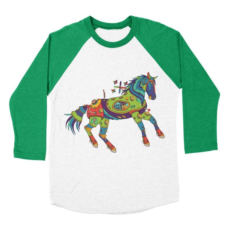 Horse, cool art from the AlphaPod Collection Men's Baseball Triblend Longsleeve T-Shirt by AlphaPod