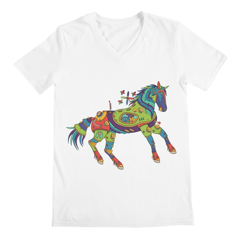 Horse, cool art from the AlphaPod Collection Men's V-Neck by AlphaPod