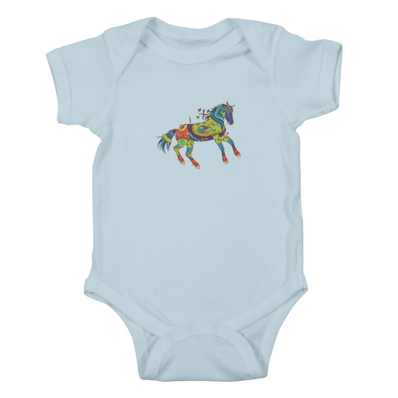 Horse, cool art from the AlphaPod Collection Kids Baby Bodysuit by AlphaPod