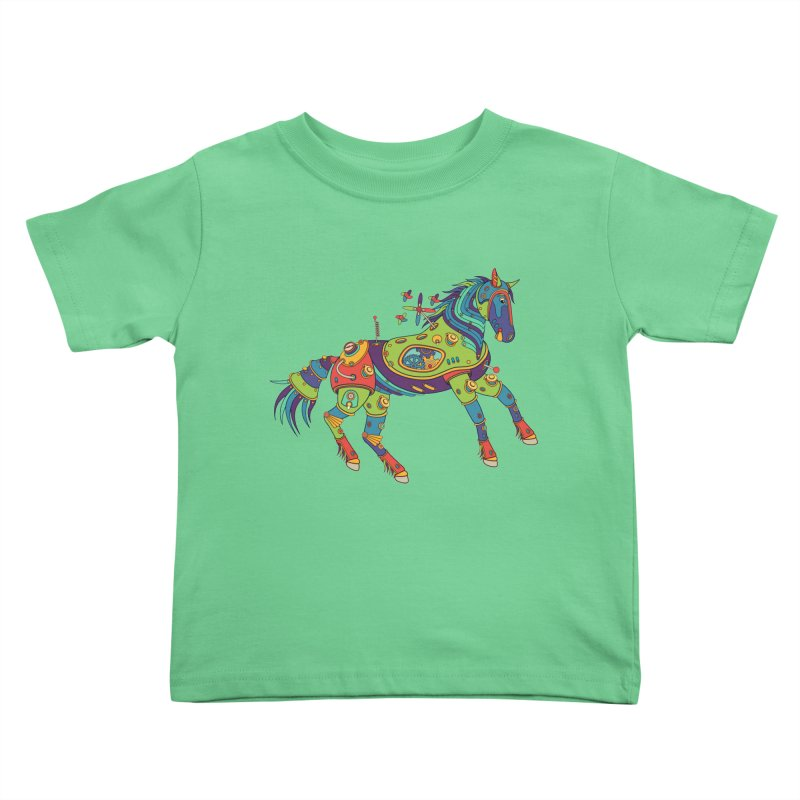 Horse, cool wall art for kids and adults alike Kids Toddler T-Shirt by AlphaPod