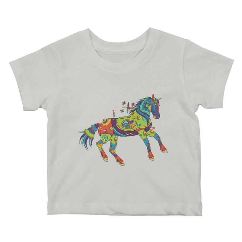 Horse, cool wall art for kids and adults alike Kids Baby T-Shirt by AlphaPod