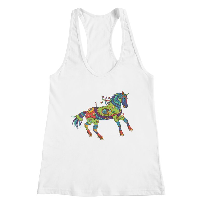 Horse, cool art from the AlphaPod Collection Women's Racerback Tank by AlphaPod