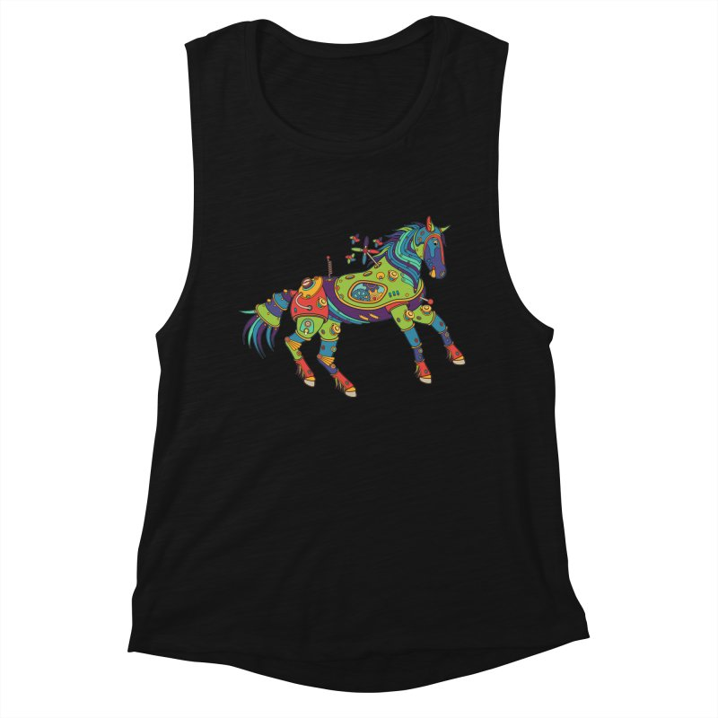 Horse, cool art from the AlphaPod Collection Women's Tank by AlphaPod