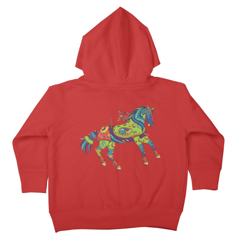 Horse, cool wall art for kids and adults alike Kids Toddler Zip-Up Hoody by AlphaPod