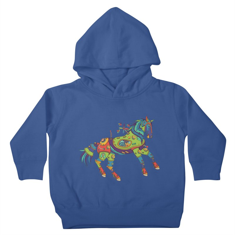 Horse, cool art from the AlphaPod Collection Kids Toddler Pullover Hoody by AlphaPod