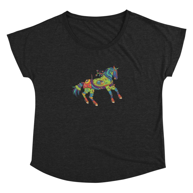 Horse, cool art from the AlphaPod Collection Women's Dolman Scoop Neck by AlphaPod