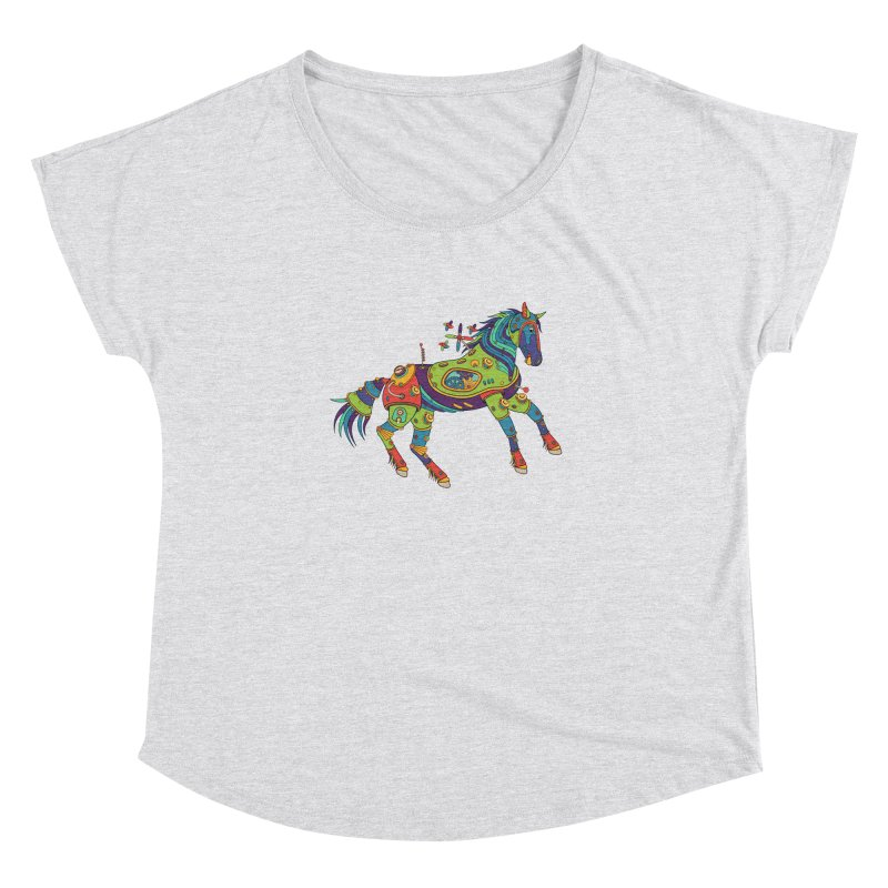Horse, cool wall art for kids and adults alike Women's Dolman by AlphaPod