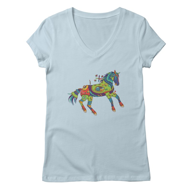 Horse, cool art from the AlphaPod Collection Women's V-Neck by AlphaPod