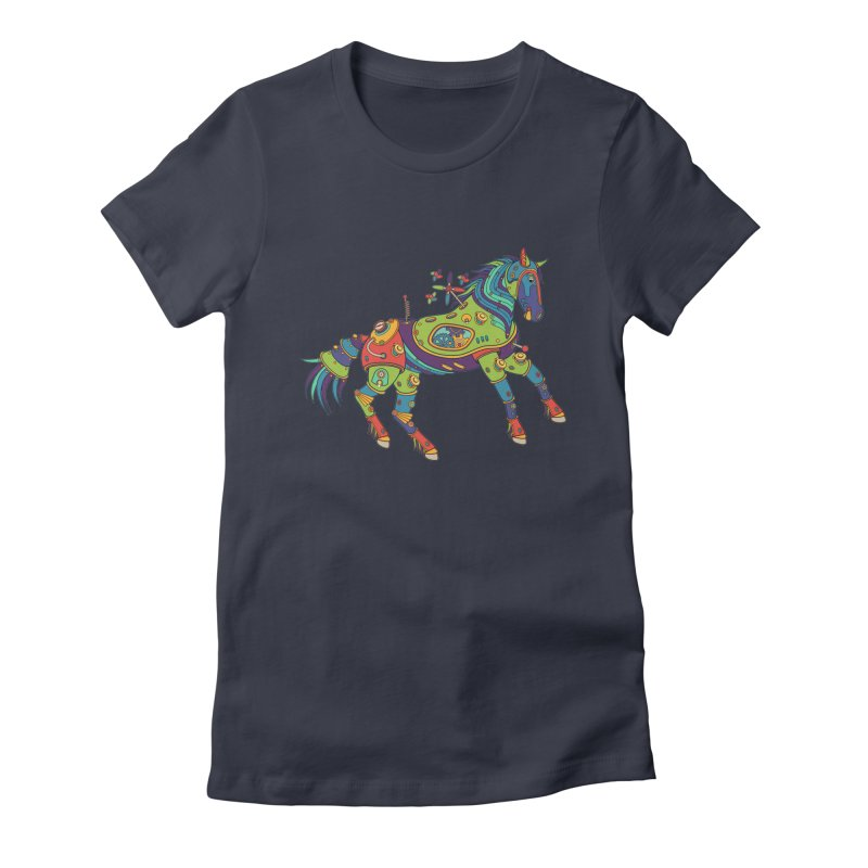 Horse, cool art from the AlphaPod Collection Women's Fitted T-Shirt by AlphaPod
