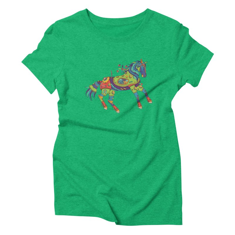 Horse, cool art from the AlphaPod Collection Women's Triblend T-Shirt by AlphaPod