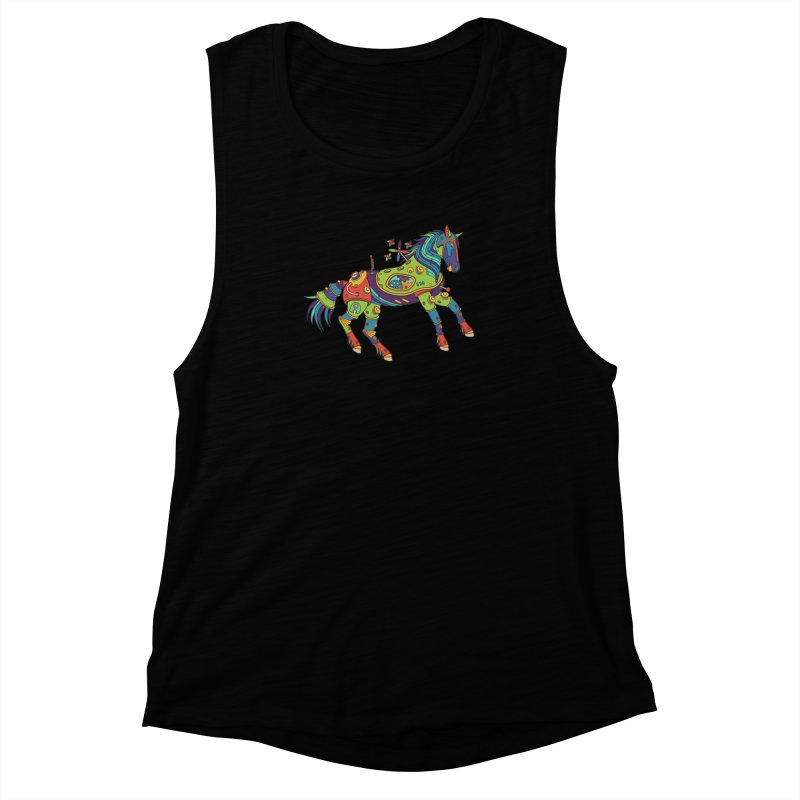 Horse, cool art from the AlphaPod Collection Women's Muscle Tank by AlphaPod