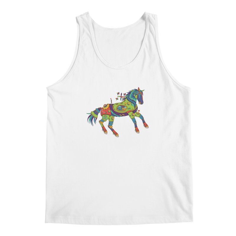 Horse, cool art from the AlphaPod Collection Men's Regular Tank by AlphaPod
