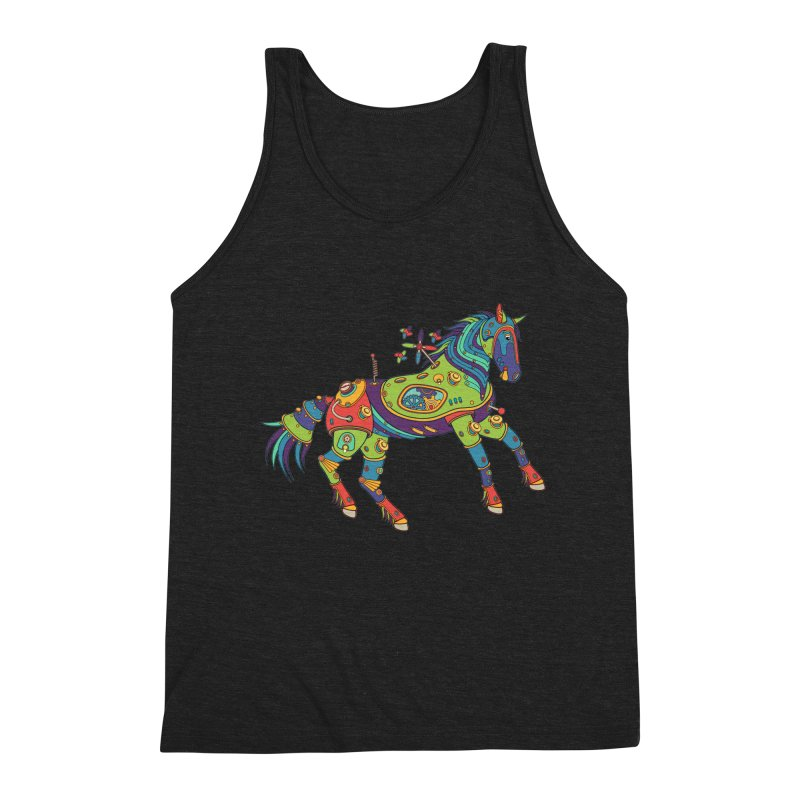 Horse, cool art from the AlphaPod Collection Men's Triblend Tank by AlphaPod
