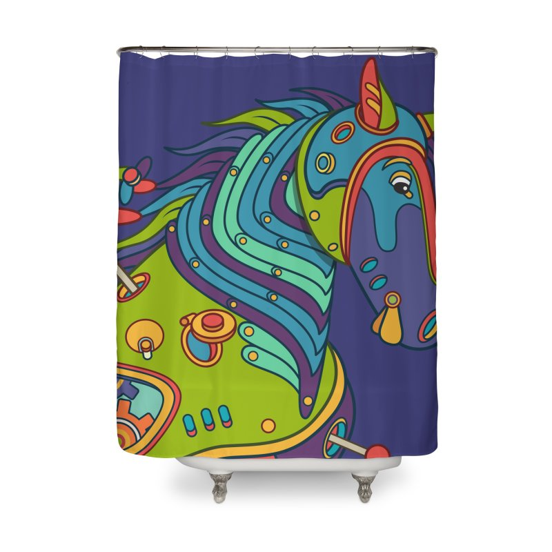 Horse, cool art from the AlphaPod Collection Home Shower Curtain by AlphaPod