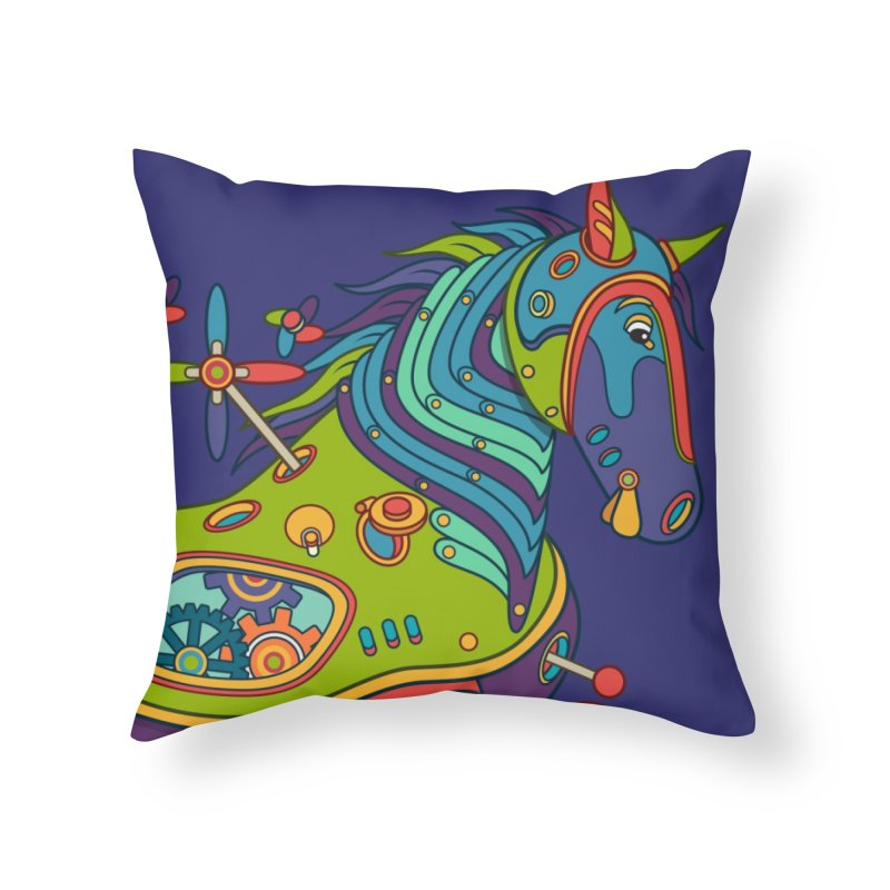 Horse, cool art from the AlphaPod Collection Home Throw Pillow by AlphaPod