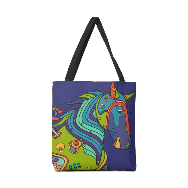 Horse, cool art from the AlphaPod Collection Accessories Tote Bag Bag by AlphaPod