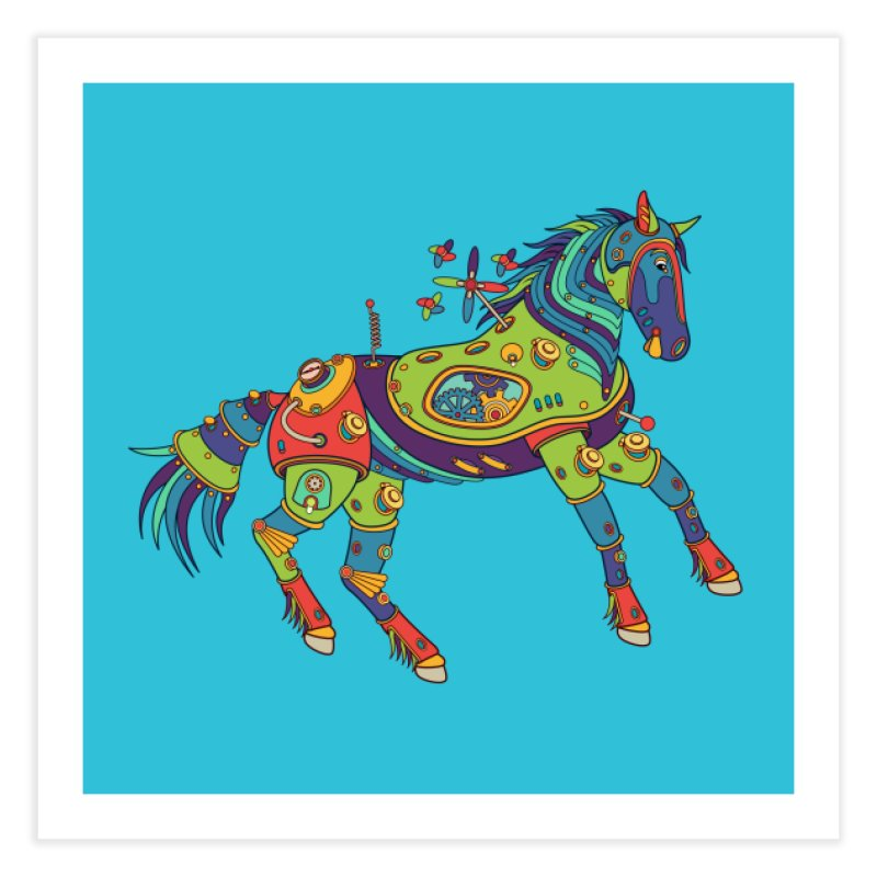Horse, cool wall art for kids and adults alike Home Fine Art Print by AlphaPod