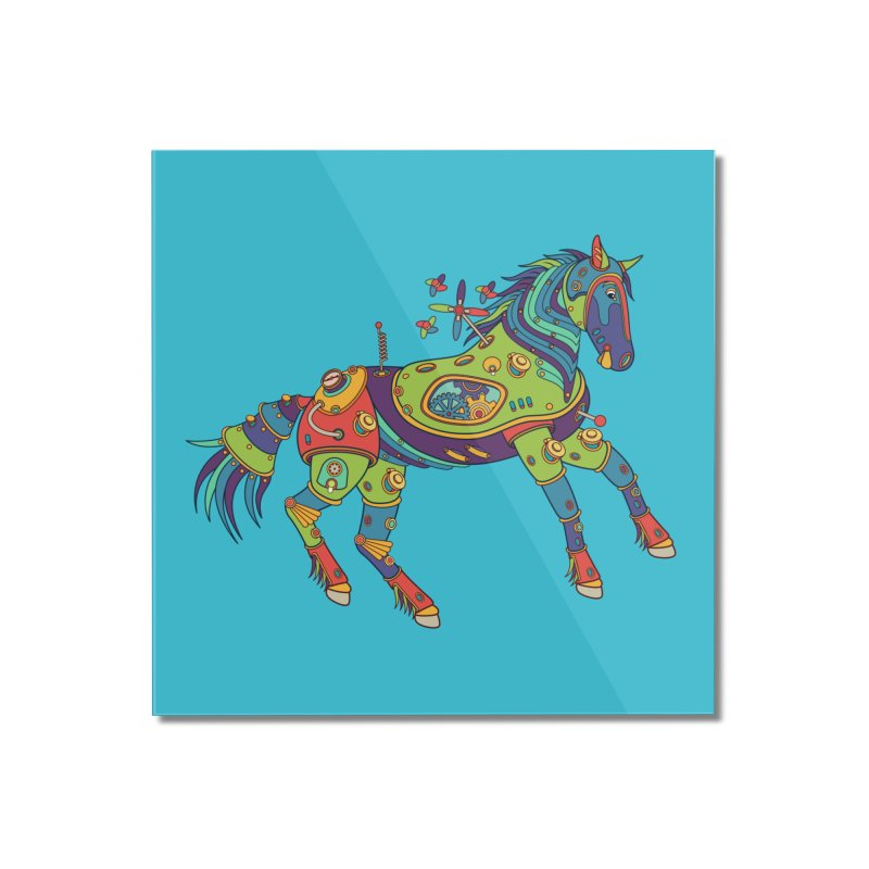 Horse, cool wall art for kids and adults alike Home Mounted Acrylic Print by AlphaPod