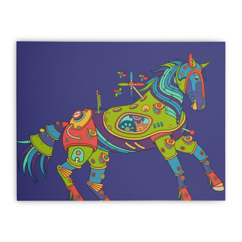 Horse, cool art from the AlphaPod Collection Home Stretched Canvas by AlphaPod