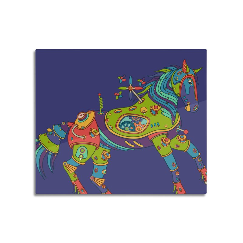 Horse, cool art from the AlphaPod Collection Home Mounted Aluminum Print by AlphaPod