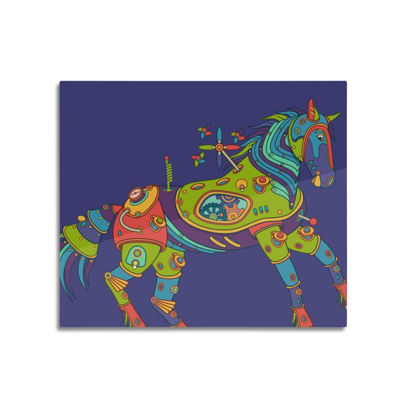 Horse, cool art from the AlphaPod Collection Home Mounted Acrylic Print by AlphaPod
